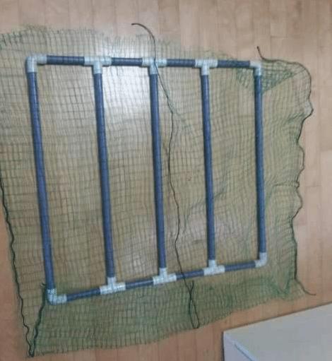自制龙鱼缸隔离网